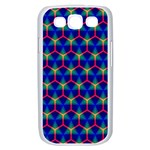 Honeycomb Fractal Art Samsung Galaxy S III Case (White) Front