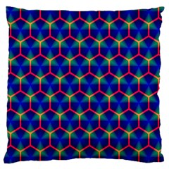 Honeycomb Fractal Art Large Cushion Case (Two Sides)