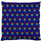 Honeycomb Fractal Art Large Cushion Case (Two Sides) Back