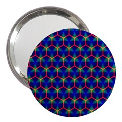 Honeycomb Fractal Art 3  Handbag Mirrors