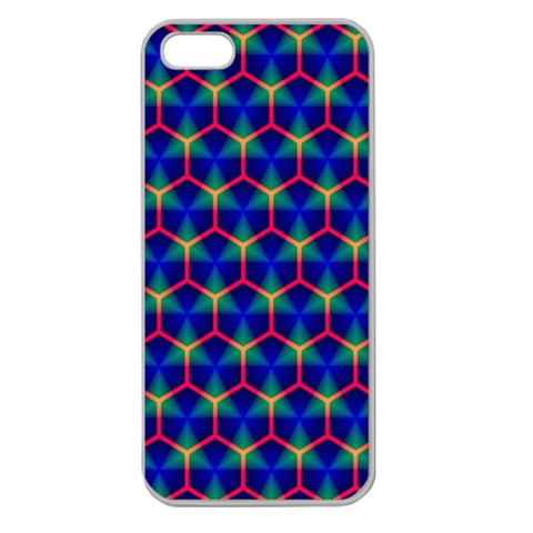Honeycomb Fractal Art Apple Seamless iPhone 5 Case (Clear)