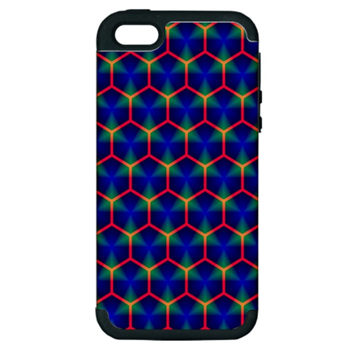 Honeycomb Fractal Art Apple iPhone 5 Hardshell Case (PC+Silicone)