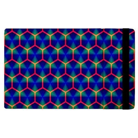 Honeycomb Fractal Art Apple iPad 2 Flip Case