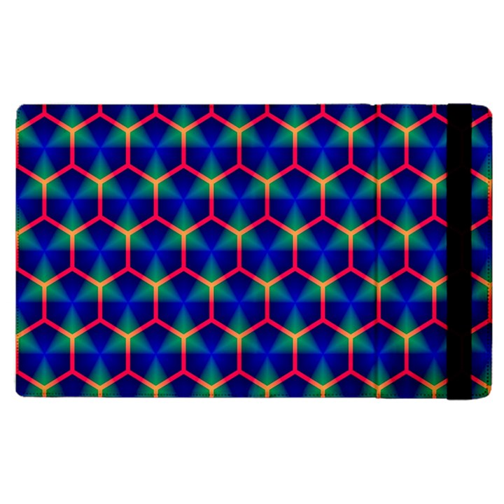 Honeycomb Fractal Art Apple iPad 3/4 Flip Case
