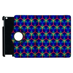 Honeycomb Fractal Art Apple iPad 2 Flip 360 Case
