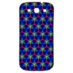 Honeycomb Fractal Art Samsung Galaxy S3 S III Classic Hardshell Back Case Front