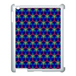 Honeycomb Fractal Art Apple iPad 3/4 Case (White) Front