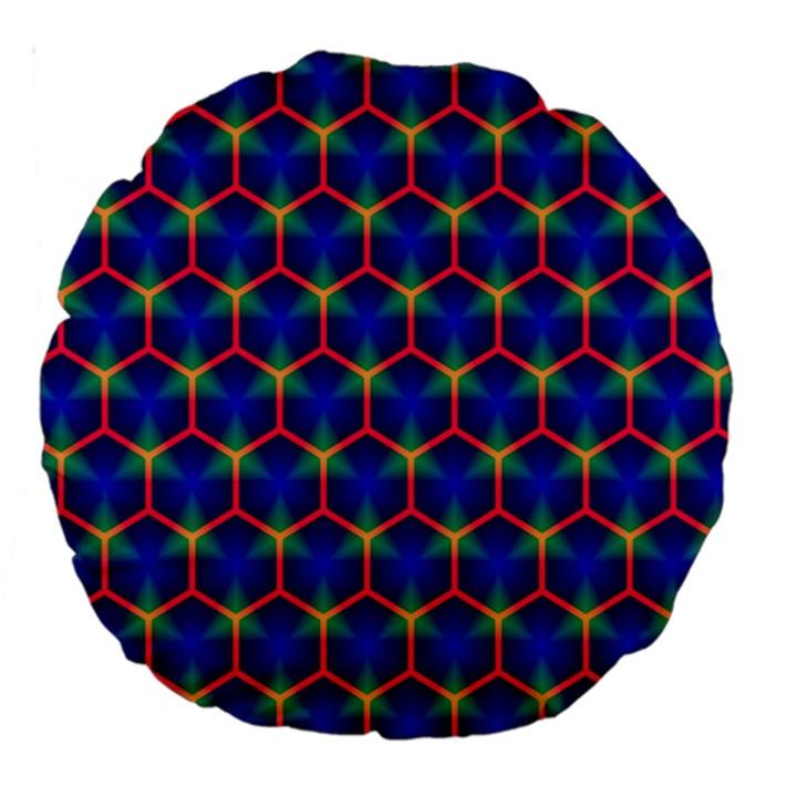 Honeycomb Fractal Art Large 18  Premium Round Cushions