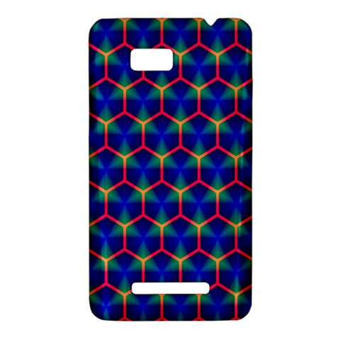 Honeycomb Fractal Art HTC One SU T528W Hardshell Case