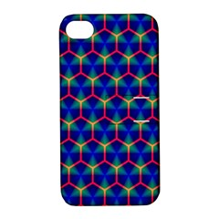 Honeycomb Fractal Art Apple iPhone 4/4S Hardshell Case with Stand