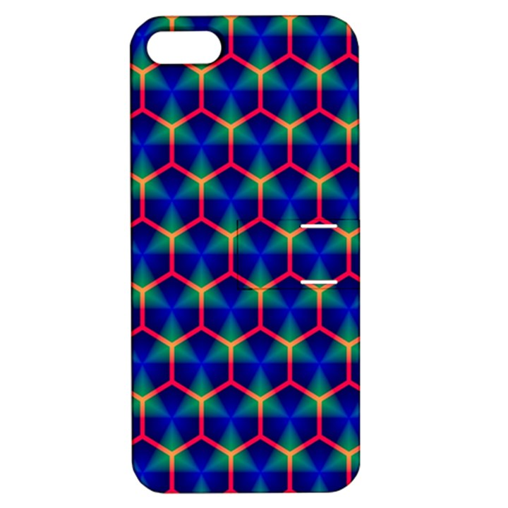 Honeycomb Fractal Art Apple iPhone 5 Hardshell Case with Stand