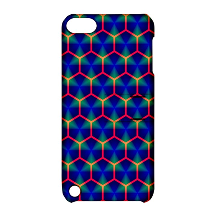 Honeycomb Fractal Art Apple iPod Touch 5 Hardshell Case with Stand