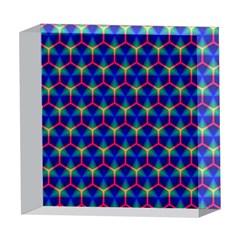 Honeycomb Fractal Art 5  x 5  Acrylic Photo Blocks
