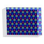 Honeycomb Fractal Art 5 x 7  Acrylic Photo Blocks Front