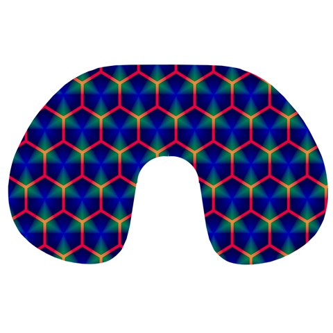 Honeycomb Fractal Art Travel Neck Pillows