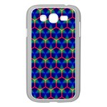 Honeycomb Fractal Art Samsung Galaxy Grand DUOS I9082 Case (White) Front