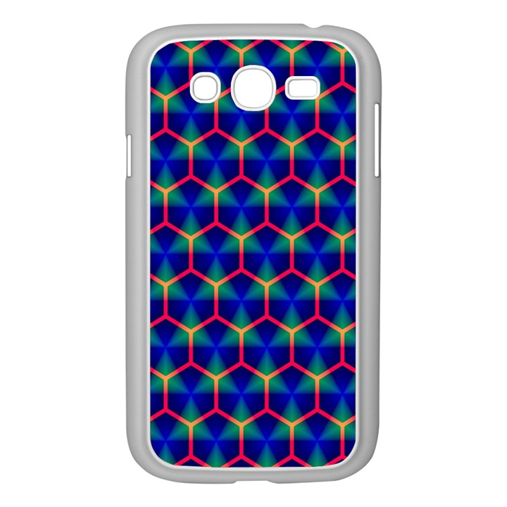 Honeycomb Fractal Art Samsung Galaxy Grand DUOS I9082 Case (White)