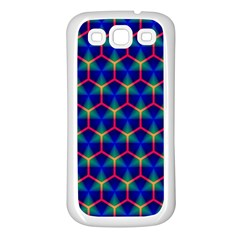 Honeycomb Fractal Art Samsung Galaxy S3 Back Case (White)