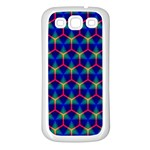 Honeycomb Fractal Art Samsung Galaxy S3 Back Case (White) Front