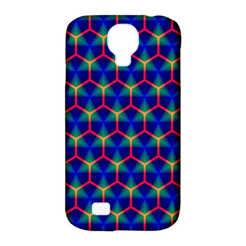 Honeycomb Fractal Art Samsung Galaxy S4 Classic Hardshell Case (PC+Silicone)