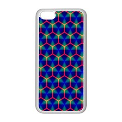 Honeycomb Fractal Art Apple iPhone 5C Seamless Case (White)