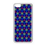 Honeycomb Fractal Art Apple iPhone 5C Seamless Case (White) Front