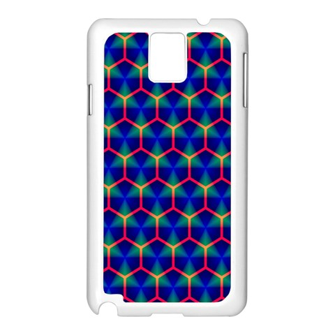 Honeycomb Fractal Art Samsung Galaxy Note 3 N9005 Case (White)