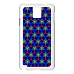 Honeycomb Fractal Art Samsung Galaxy Note 3 N9005 Case (White) Front