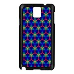 Honeycomb Fractal Art Samsung Galaxy Note 3 N9005 Case (Black) Front
