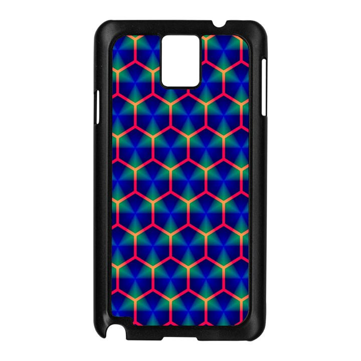 Honeycomb Fractal Art Samsung Galaxy Note 3 N9005 Case (Black)