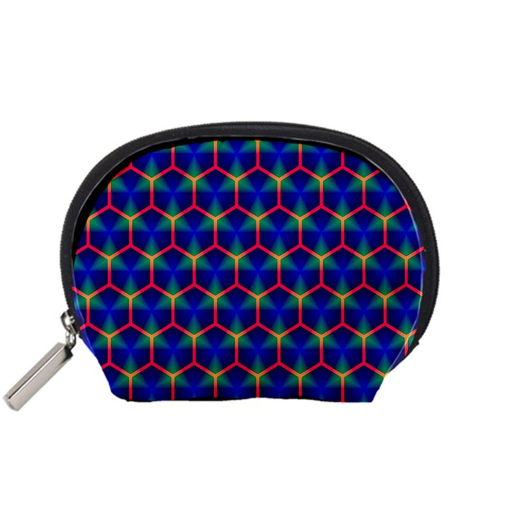 Honeycomb Fractal Art Accessory Pouches (Small)
