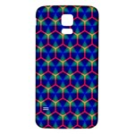 Honeycomb Fractal Art Samsung Galaxy S5 Back Case (White) Front