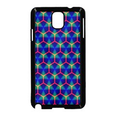 Honeycomb Fractal Art Samsung Galaxy Note 3 Neo Hardshell Case (Black)