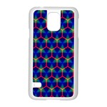 Honeycomb Fractal Art Samsung Galaxy S5 Case (White) Front