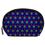 Honeycomb Fractal Art Accessory Pouches (Large)  Front