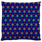 Honeycomb Fractal Art Large Flano Cushion Case (Two Sides) Front