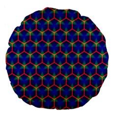 Honeycomb Fractal Art Large 18  Premium Flano Round Cushions