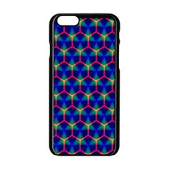 Honeycomb Fractal Art Apple iPhone 6/6S Black Enamel Case