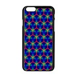 Honeycomb Fractal Art Apple iPhone 6/6S Black Enamel Case Front