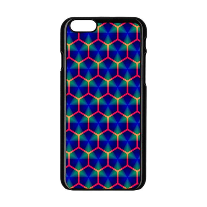 Honeycomb Fractal Art Apple iPhone 6/6S Black Enamel Case