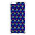 Honeycomb Fractal Art Apple iPhone 6 Plus/6S Plus Enamel White Case Front