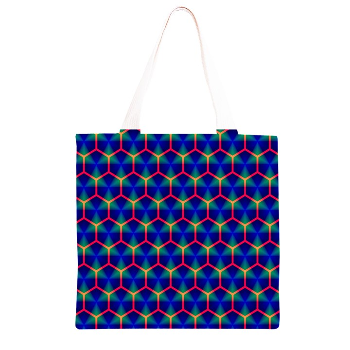 Honeycomb Fractal Art Grocery Light Tote Bag