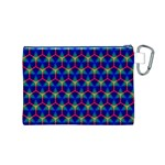 Honeycomb Fractal Art Canvas Cosmetic Bag (M) Back