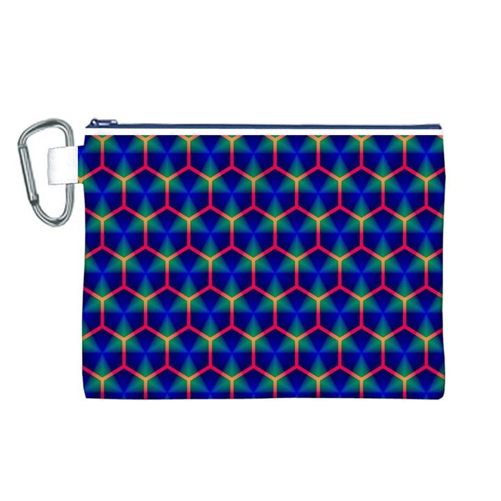 Honeycomb Fractal Art Canvas Cosmetic Bag (L)