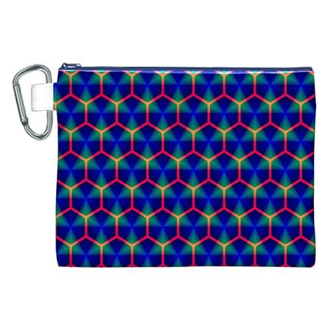 Honeycomb Fractal Art Canvas Cosmetic Bag (XXL)