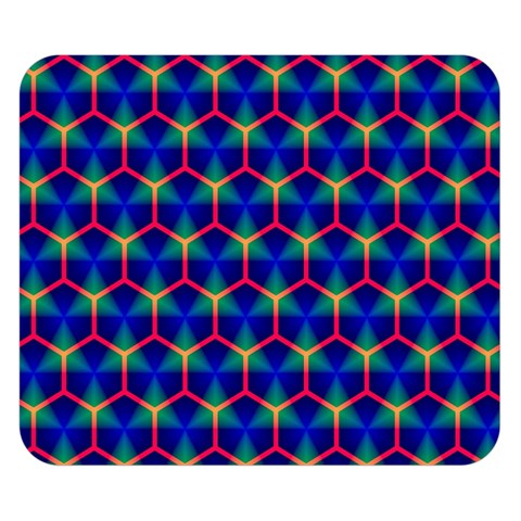 Honeycomb Fractal Art Double Sided Flano Blanket (Small)