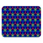 Honeycomb Fractal Art Double Sided Flano Blanket (Large)  80 x60 Blanket Front