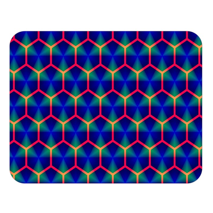 Honeycomb Fractal Art Double Sided Flano Blanket (Large)