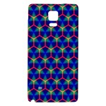 Honeycomb Fractal Art Galaxy Note 4 Back Case Front