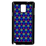 Honeycomb Fractal Art Samsung Galaxy Note 4 Case (Black) Front